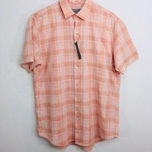 Men's Van Heusen Button Down Shirt Muted Clay L